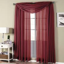 Sheer Burgundy Curtains Abri Rod Pocket Crushed Sheer Curtain Panel Single