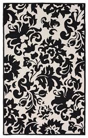 Black White Area Rug Accents Black White Area Rug 5 8 Square Floral Pattern Wool Carpet