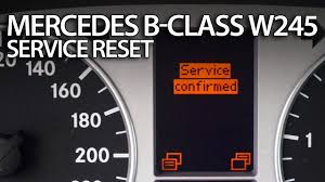 how to reset service reminder in mercedes w245 b class