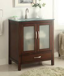 Bathroom Vanities With Glass Tops 30 Inch Bathroom Vanity With Glass Top Home Vanity Decoration