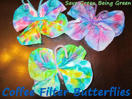 save green being green try it tuesday coffee filter butterfly craft
