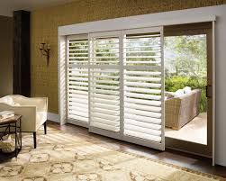 Sliding Shutters For Patio Doors Traditional Living Room