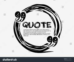 drawn quotes frame drawn quote blank stock vector 371438872