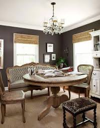 French Country Roman Shades - french country dining room cottage dining room annie sloan