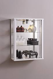 entry plus 2 door wall mounted lockable glass display cabinet