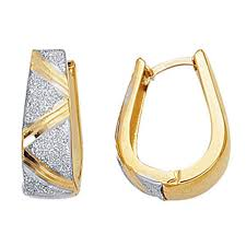 gold huggie earrings 14k 2 tone gold 15x20 mm huggy huggies earrings hoops
