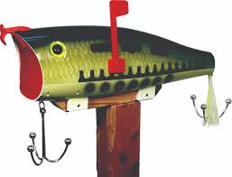 baby bass fishing lure mailbox outfit 2 fish baby bass fishing lure mailbox