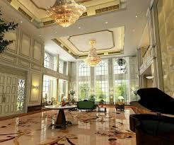 luxury villa interior design with high ceiling and elegant
