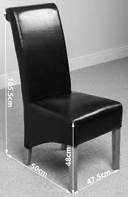 sumptuous black leather dining room chairs all dining room