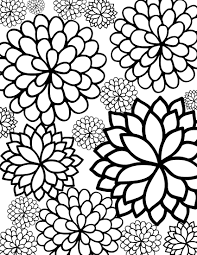 printable coloring pages of pretty flowers free printable bursting blossoms flower coloring page