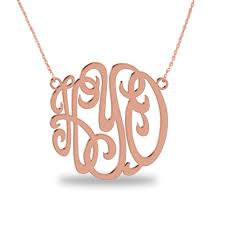 3 initial monogram necklace sterling silver 3 initial monogram necklace 1 25 inch monogram necklace 925