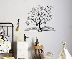 amazon com books education wall vinyl decal tree library