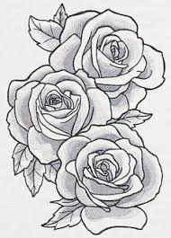 resultado de imagen para three black and grey roses drawing tattoo