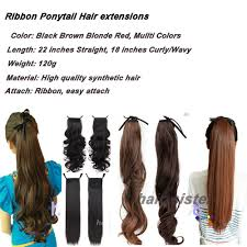 ponytail hair extensions s noilite 22 inches clip in ponytail hair extensions