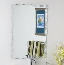 frameless wall mirror spectacular frameless wall mirror large