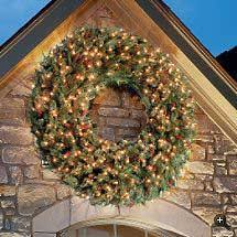 outdoor living ideas archive outdoor lighted wreath