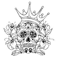 sugar skull by tyrantlizard369 on deviantart