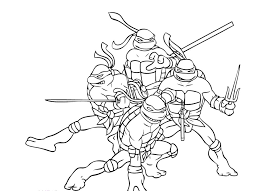teenage ninja turtles coloring free download
