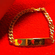 gold nameplate things remembered gold plated name plate toggle bracelet tina