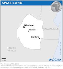 Swaziland Map Swaziland Reliefweb
