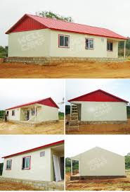 prefab steel structure anti earthquake house modern bungalow house