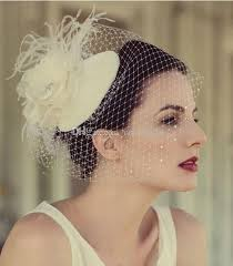 bridal headwear exquisite birdcage veil bridal party hats flower feathered net