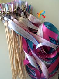 personalized wedding ribbon diy personalized wedding ribbon stick ribbon wands for party