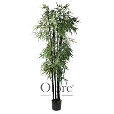 artificial bamboo tree black stems 7ft indoor artificial tree by