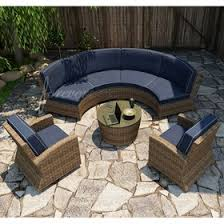 Curved Patio Sofa Forever Patio Cypress Wicker Curved Sofa Sectional 5 Pc