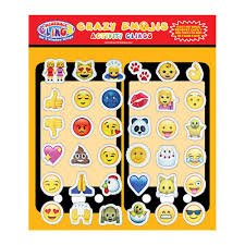 emoji face sticker pack 36 pc incredible gel and window clings