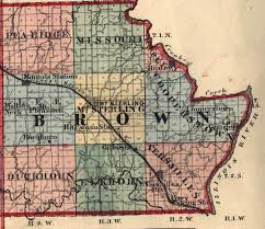 Illinois Map With Counties by Brown County Illinois Maps And Gazetteers