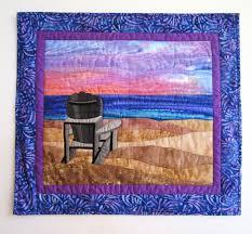 quilted wall hanging sunset alzheimer s awareness