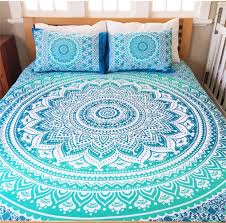 mandala queen bed cover w pillow covers zen like products com