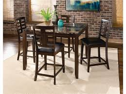 6 person dining table and chairs set made of wood in brown
