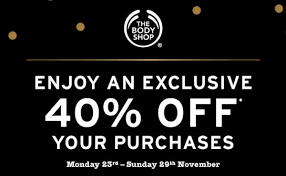 the body shop black friday 40 off at the body shop u2022crowngate shopping centre