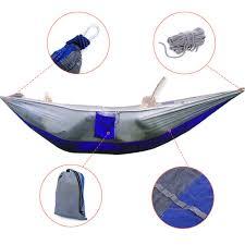 24 color 2 people portable parachute hammock camping survival