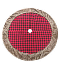 plaid tree skirt plaid tree skirt with fur trim joann