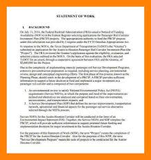 statement of work sample resumess franklinfire co