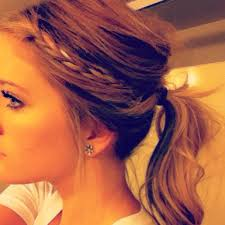 hairstyles to cover ears messy pony tail with a braid hair pinterest messy pony