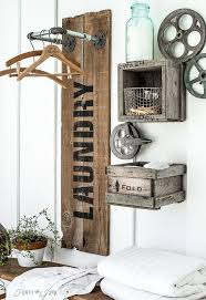 Laundry Room Wall Decor Ideas Industrial Farmhouse Laundry Hangups You Ll Want Hometalk