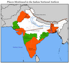 South India Map by Map Of Places Mentioned In U0027jana Gana Mana U0027 Feedback Welcome India