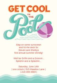 pool party free printable summer party invitation template