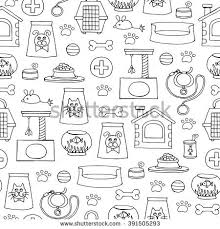 vector seamless pattern hand drawn isolated stock vector 391505293