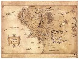 map hobbit the hobbit middle earth map poster masterprint