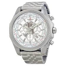 bentley sports car white breitling bentley b05 unitime chronograph white dial stainless