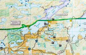 Boundary Waters Map Quetico Provincial Park Entry Points Boundary Waters Canoe Area