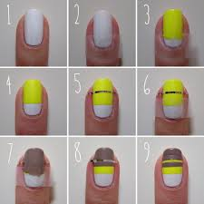nail designs step by step with tape how you can do it at home