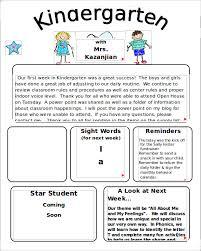 kindergarten newsletter examples best 25 kindergarten newsletter