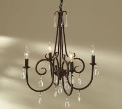 Iron Chandelier With Crystals Audrina Crystal Chandelier Pottery Barn