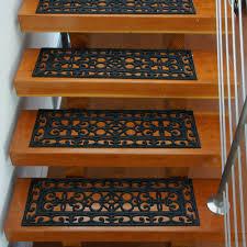 amazon com rubber cal 6 piece regal stair treads rubber step mats